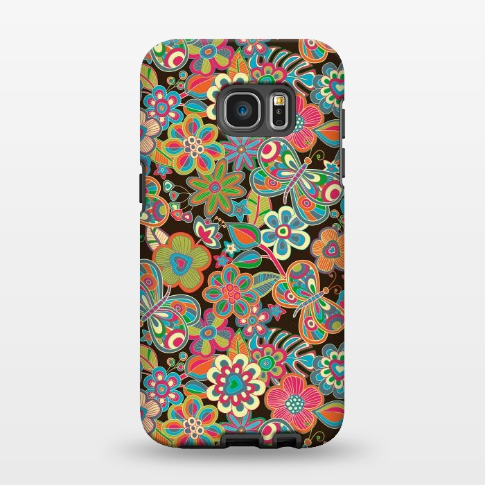 AC1346253, Phone Cases, Galaxy S7 EDGE, StrongFit, Julia Grifol, My Butterflies and Flowers, Designers,