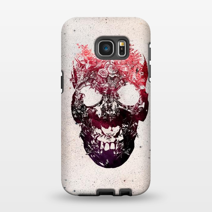 AC1346270, Phone Cases, Galaxy S7 EDGE, StrongFit, Ali Gulec, Floral Skull, Designers,