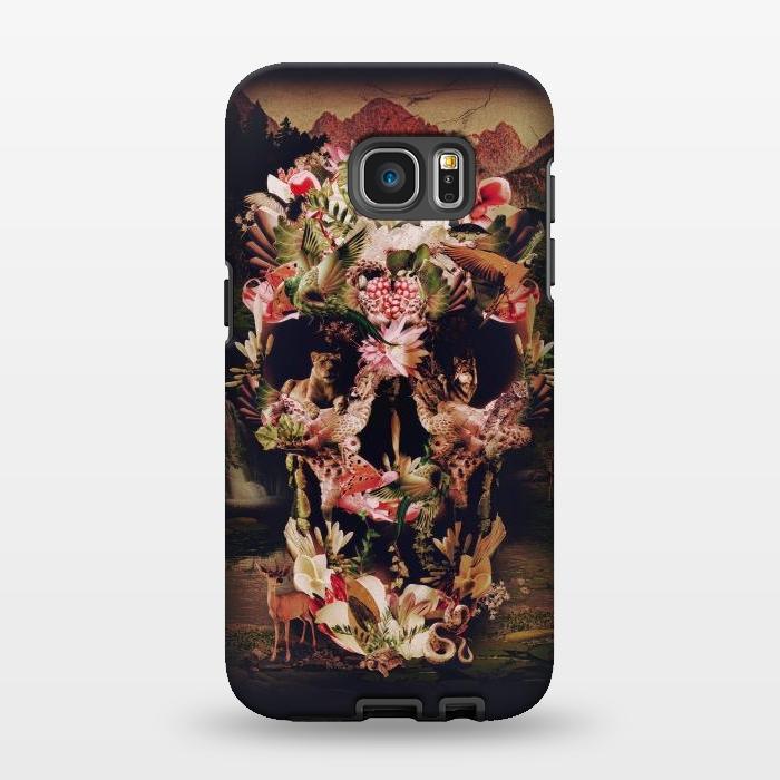 AC1346273, Phone Cases, Galaxy S7 EDGE, StrongFit, Ali Gulec, Jungle Skull, Designers,