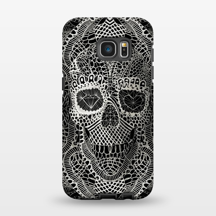 AC1346277, Phone Cases, Galaxy S7 EDGE, StrongFit, Ali Gulec, Lace Skull, Designers,