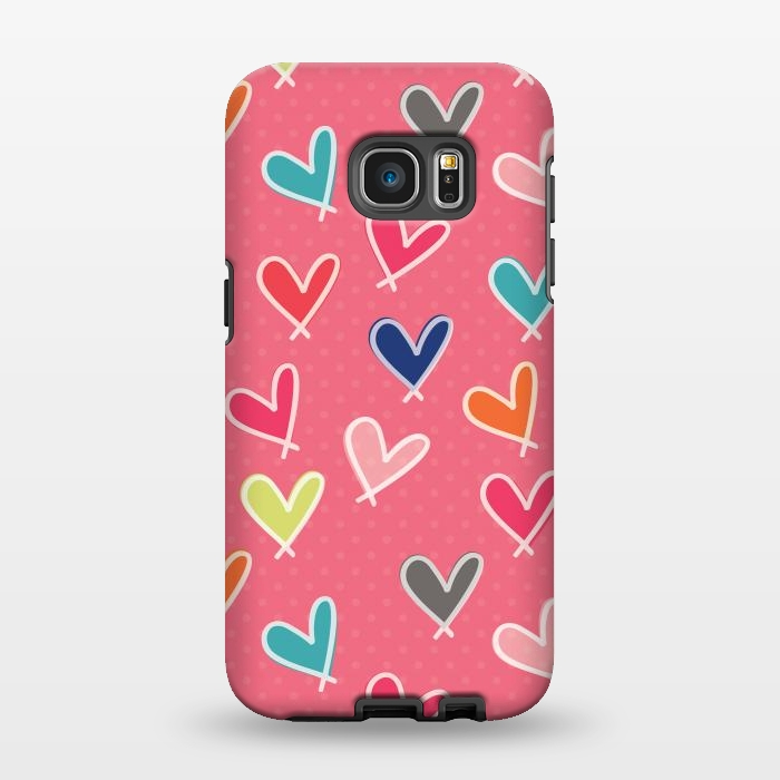 AC1346282, Phone Cases, Galaxy S7 EDGE, StrongFit, Rosie Simons, Pink Blow Me One Last Kiss, Designers,