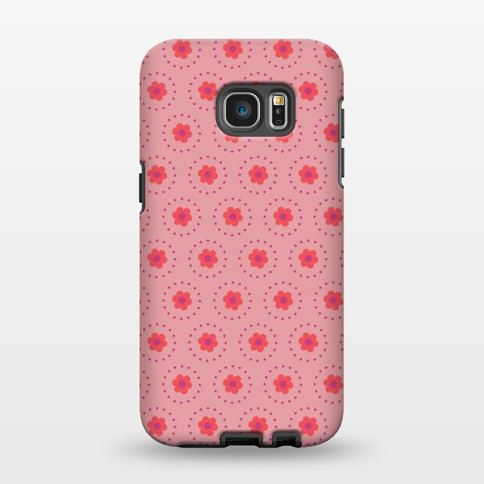 AC1346283, Phone Cases, Galaxy S7 EDGE, StrongFit, Rosie Simons, Pink Circular Floral, Designers,
