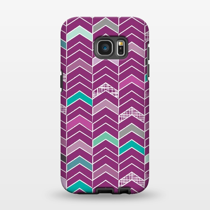 AC1346287, Phone Cases, Galaxy S7 EDGE, StrongFit, Rosie Simons, Chevron Purple, Designers,