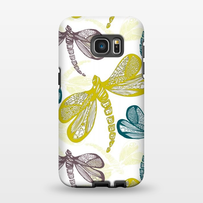 AC1346311, Phone Cases, Galaxy S7 EDGE, StrongFit, Julie Hamilton, Dragon fly, Designers,
