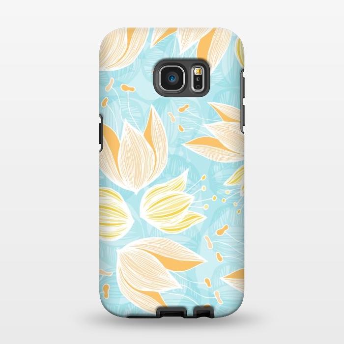 AC1346323, Phone Cases, Galaxy S7 EDGE, StrongFit, Anchobee, Blumen Blue, Designers,