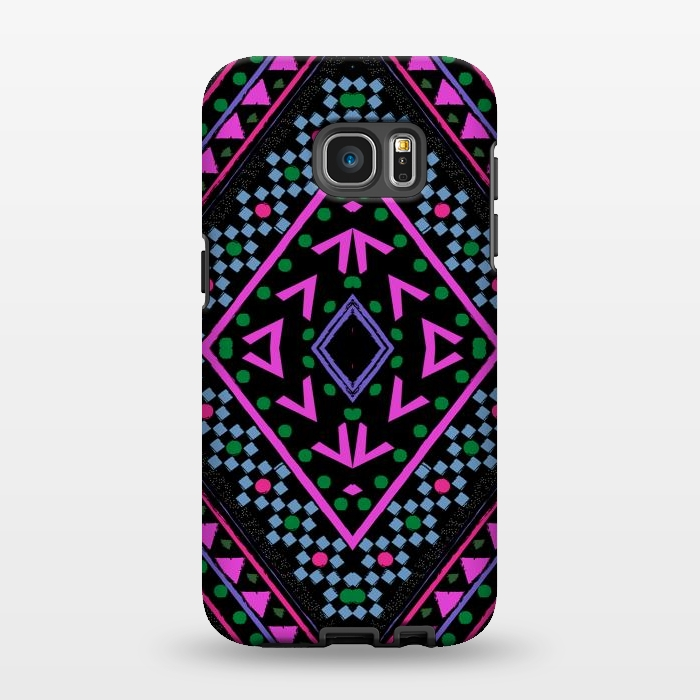 AC1346336, Phone Cases, Galaxy S7 EDGE, StrongFit, Nika Martinez, Neon Pattern, Designers,