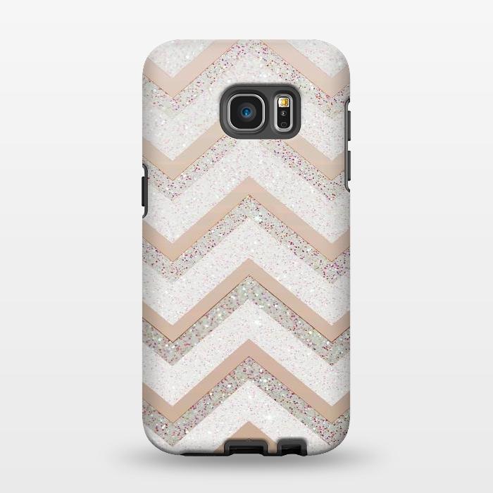 AC1346351, Phone Cases, Galaxy S7 EDGE, StrongFit, Monika Strigel, Nude Chevron, Designers,