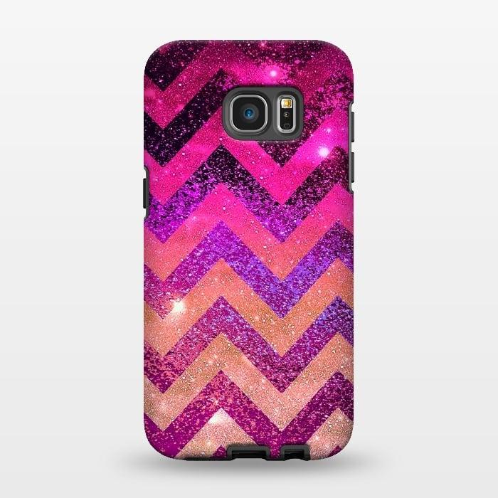 AC1346353, Phone Cases, Galaxy S7 EDGE, StrongFit, Monika Strigel, Chevron Water Galaxy, Designers,