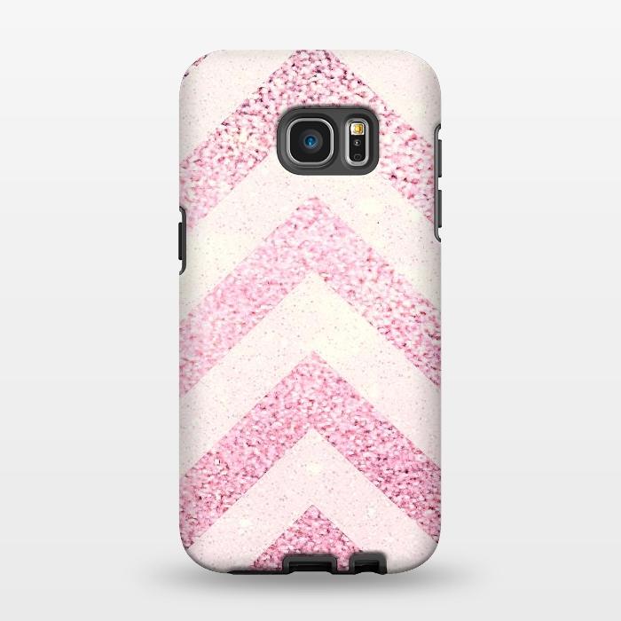 AC1346354, Phone Cases, Galaxy S7 EDGE, StrongFit, Monika Strigel, Party Chevron Powder, Designers,