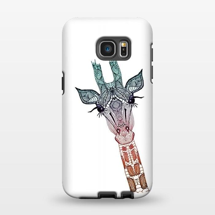 AC1346356, Phone Cases, Galaxy S7 EDGE, StrongFit, Monika Strigel, Giraffe Teal, Designers,