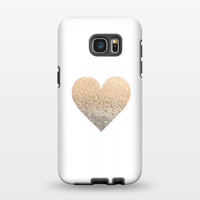 AC1346358, Phone Cases, Galaxy S7 EDGE, StrongFit, Monika Strigel, Gatsby Gold Heart, Designers,