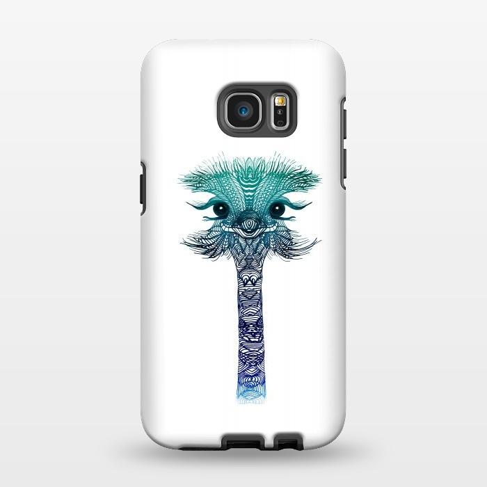 AC1346359, Phone Cases, Galaxy S7 EDGE, StrongFit, Monika Strigel, Ostrich Strigel Blue Mint, Designers,