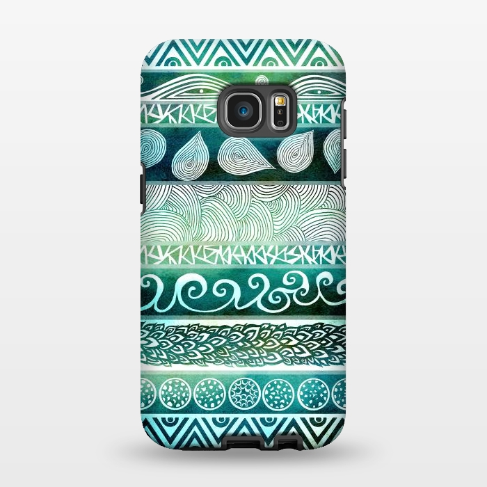 AC1346380, Phone Cases, Galaxy S7 EDGE, StrongFit, Pom Graphic Design, Dreamy Tribal, Designers,