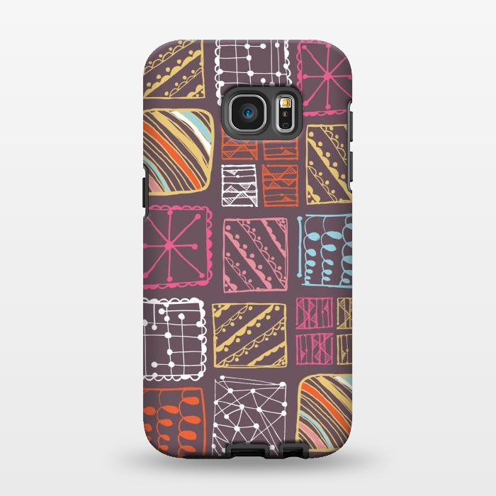 AC1346501, Phone Cases, Galaxy S7 EDGE, StrongFit, Rachael Taylor, Doodle Squares, Designers,