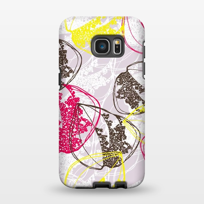 AC1346506, Phone Cases, Galaxy S7 EDGE, StrongFit, Rachael Taylor, Organic Retro Leaves, Designers,