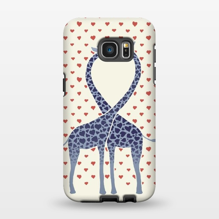 AC1346511, Phone Cases, Galaxy S7 EDGE, StrongFit, Micklyn Le Feuvre, Giraffes in Love a Valentine's Day illustration, Designers,