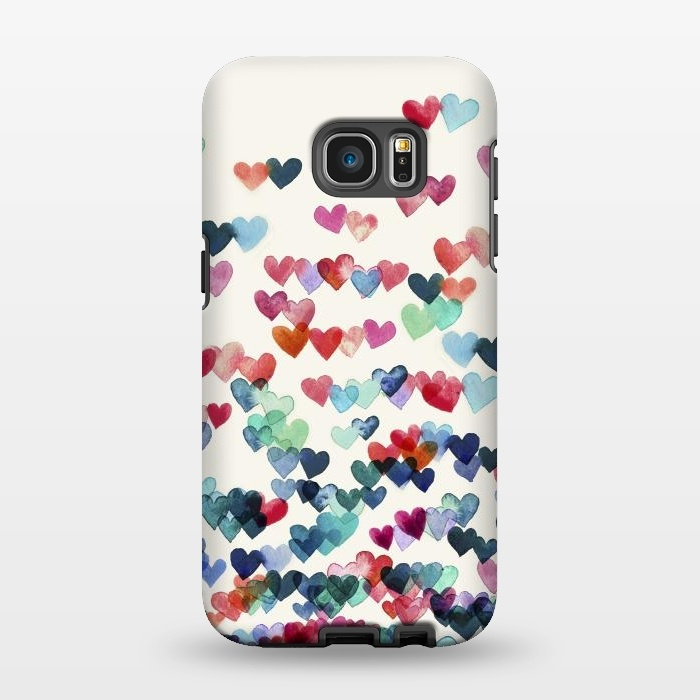 AC1346512, Phone Cases, Galaxy S7 EDGE, StrongFit, Micklyn Le Feuvre, Heart Connections a watercolor painting, Designers,