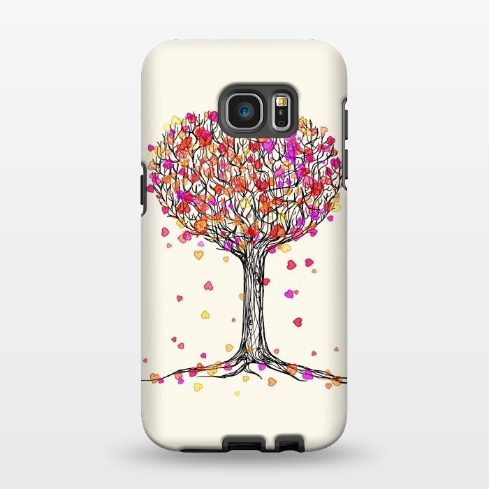 AC1346513, Phone Cases, Galaxy S7 EDGE, StrongFit, Micklyn Le Feuvre, Love in the Fall Heart Tree Illustration, Designers,