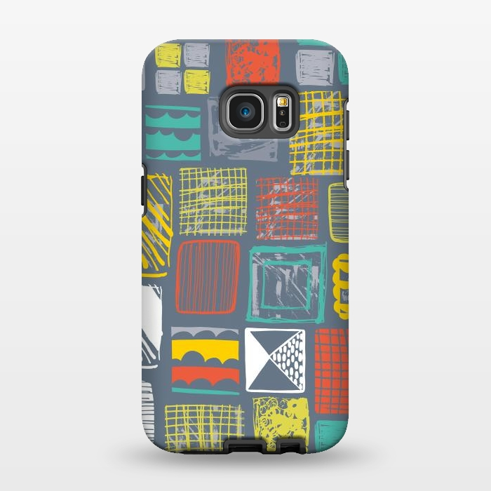 AC1346550, Phone Cases, Galaxy S7 EDGE, StrongFit, Rachael Taylor, Square Metropolis Leaves, Designers,