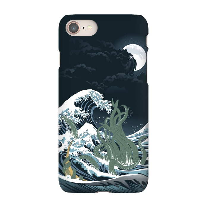 AC-00011271, Phone Cases, iPhone 7, SlimFit, Samiel Art, The Wave off R'lyeh , Designers,cthulhu,lovecraft,terror,horror,samiel,samielart,hokusai,great wave,kanagawa,japan,literature