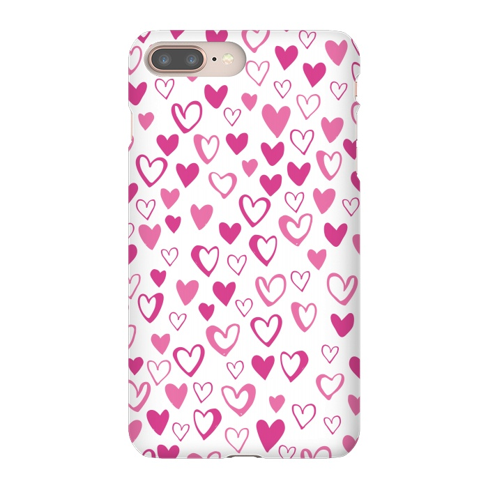AC-00011449, Phone Cases, iPhone 7 plus, SlimFit, Kimrhi Studios, Lovehearts, Designers,Love,Lovehearts,heart,pink