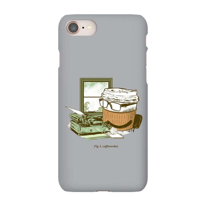 AC-00012019, Phone Cases, iPhone 7, SlimFit, M Saffi Mainial, Coffee Writer, Designers,Coffee, Typewriter,Coffeewriter,Advertising