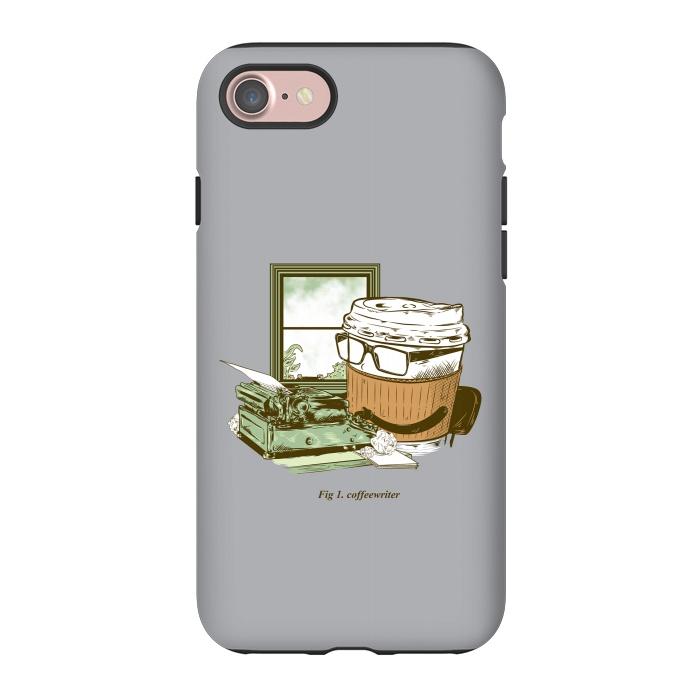 AC-00012020, Phone Cases, iPhone 7, StrongFit, M Saffi Mainial, Coffee Writer, Designers,Coffee, Typewriter,Coffeewriter,Advertising