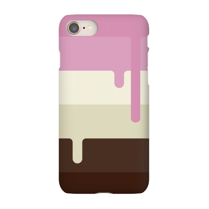 AC-00012041, Phone Cases, iPhone 7, SlimFit, Dellán, Neapolitan Ice Cream, Designers,Ice cream, neapolitan,summer,spring,cold,gender neutral,gourmet,fresh,ice pop