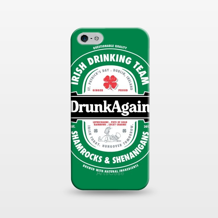 iPhone 5/5E/5s Cases DrunkAgain Beer by Vó Maria | ArtsCase