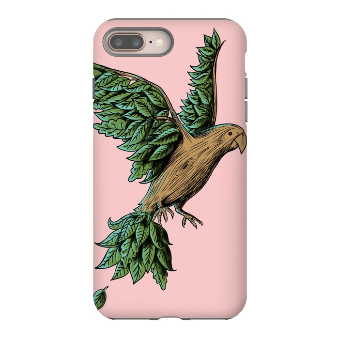AC-00015291, Phone Cases, iPhone 7 plus, StrongFit, Coffee Man, Wood Bird, Designers,bird,nature,wood,tree,wild,planet,animal,cute,funny,humor,wtf,fly,vintage,retro