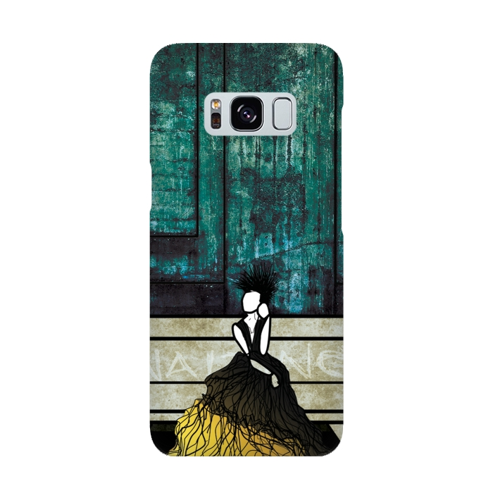 AC-00015885, Phone cases, Galaxy S8, SlimFit Galaxy S8, Amy Smith, Waiting, Designers,