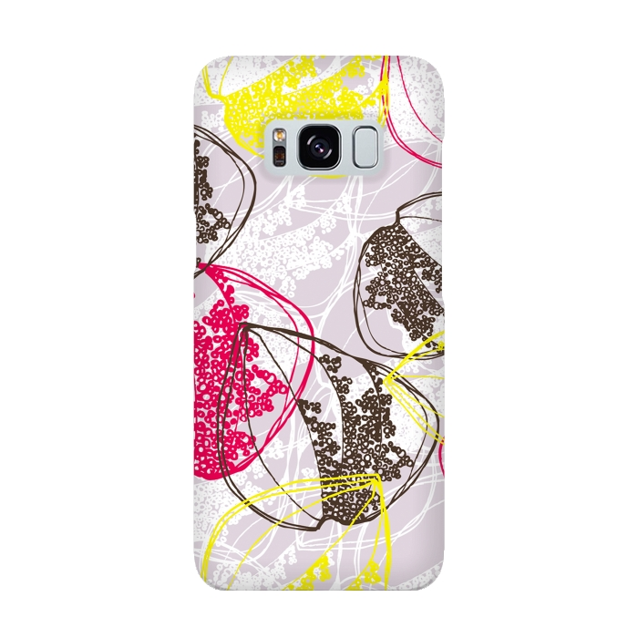 AC-00015899, Phone cases, Galaxy S8, SlimFit Galaxy S8, Rachael Taylor, Organic Retro Leaves, Designers,