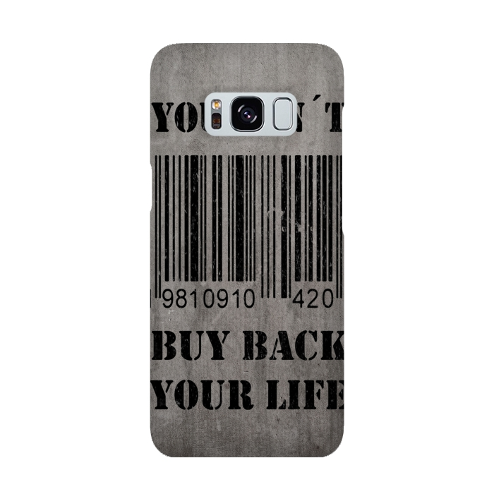 AC-00015921, Phone cases, Galaxy S8, SlimFit Galaxy S8, Nicklas Gustafsson, You can´t buy back your life, Designers,