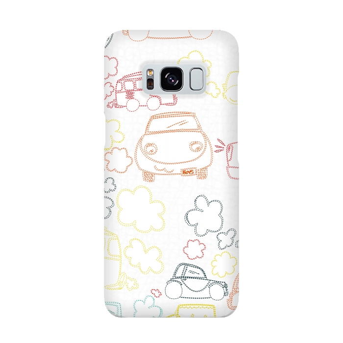 AC-00015934, Phone cases, Galaxy S8, SlimFit Galaxy S8, MaJoBV, Stitched Cars, Designers,