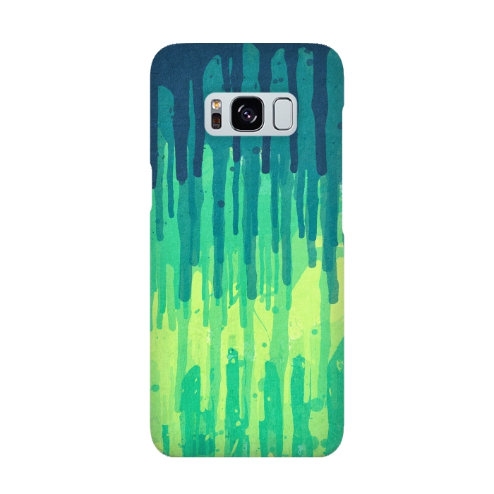Green Grunge Color Splatter Graffiti Backstreet Wall