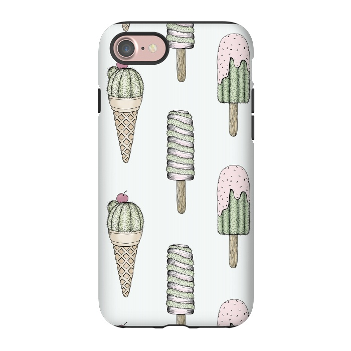 AC-00024680, Phone Cases, iPhone 7, StrongFit, Barlena, Sweet Treats, Designers,Cacti, Ice Cream, Sweet, Prickly, Treats, Summer, Fun, Funny, Pastel, Cactus