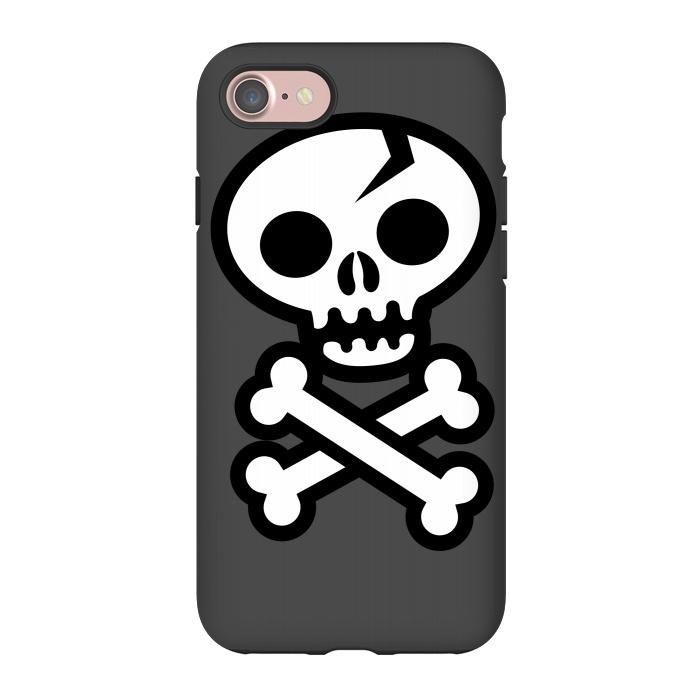 AC-00027480, Phone Cases, iPhone 7, StrongFit, Wotto, Skull & Crossbones, Designers,skull,skulls,skeleton, vector, death, deathly, dead,pirate, pirate flag,illustrated,bones,symbol, logo,death symbol, sign,emoticon, icon,simple, vector art,cracked skull,wotto,skull face,dark, dark arts