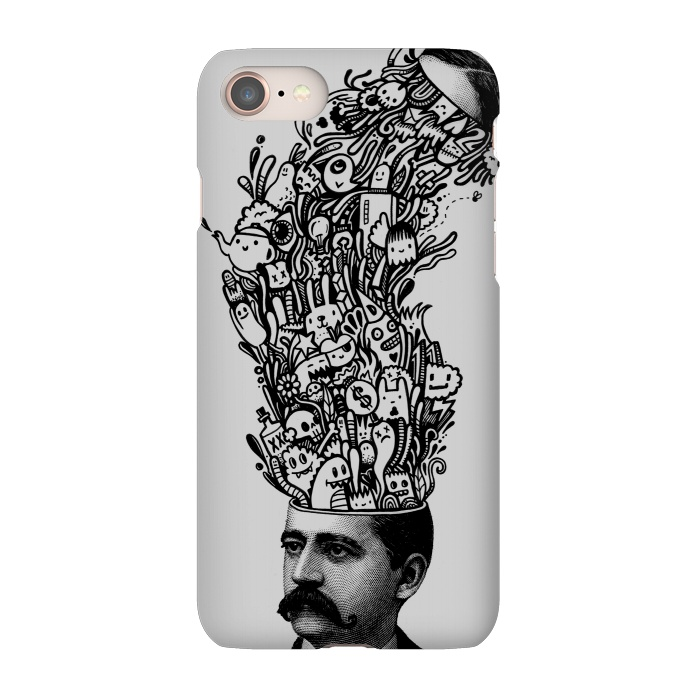 AC-00027509, Phone Cases, iPhone 7, SlimFit, Wotto, Brain Fart, Designers,head explosion,doodles,doodle,doodling,characters,patterns,funny, head,explosion,fun,silly, unique, wotto,doodle art,teapot