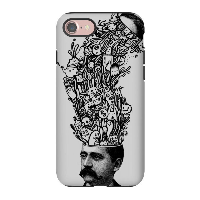 AC-00027510, Phone Cases, iPhone 7, StrongFit, Wotto, Brain Fart, Designers,head explosion,doodles,doodle,doodling,characters,patterns,funny, head,explosion,fun,silly, unique, wotto,doodle art,teapot