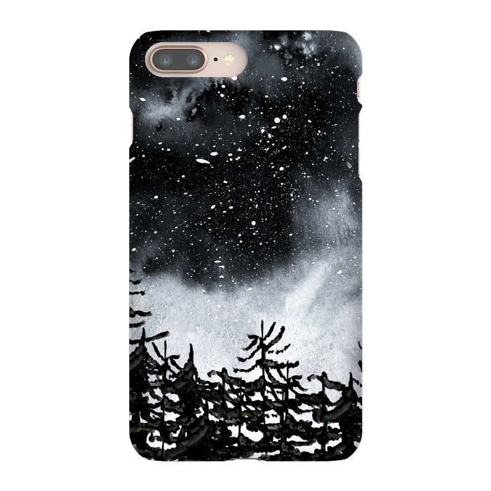 AC-00027658, Phone Cases, iPhone 7 plus, SlimFit, Amaya Brydon, Lost, Designers,trees,nature,forest,sky,night,stars,black