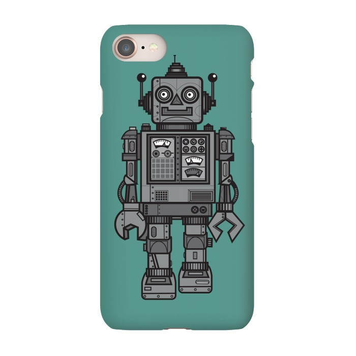 AC-00027684, Phone Cases, iPhone 7, SlimFit, Wotto, A Vintage Robot Friend, Designers,robot,tin robot,toy, vintage toy,robotic,cool, fun, funny,character, fun toy,childhood,nostalgia ,vintage,future,wotto