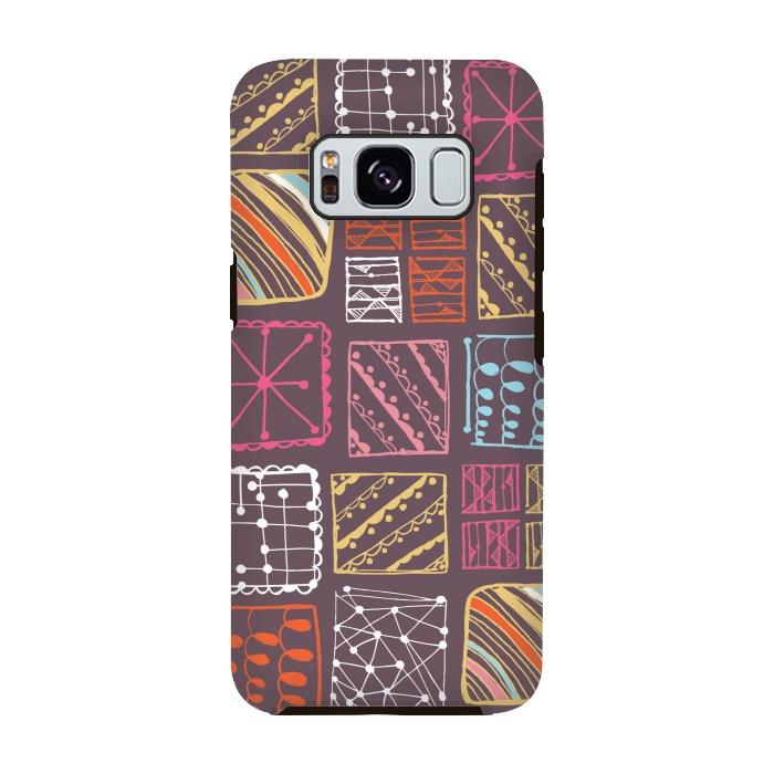 AC-00028765, Phone cases, Galaxy S8, Galaxy S8 plus, StrongFit Galaxy S8, StrongFit Galaxy S8, Rachael Taylor, Doodle Squares, Designers, Tough Cases,
