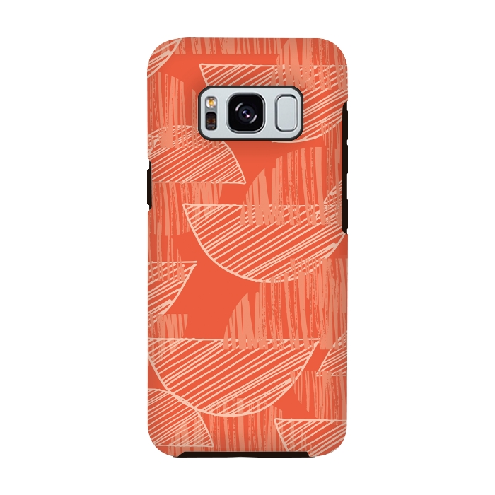 AC-00028772, Phone cases, Galaxy S8, Galaxy S8 plus, StrongFit Galaxy S8, StrongFit Galaxy S8, Rachael Taylor, Orange Arcs, Designers, Tough Cases,