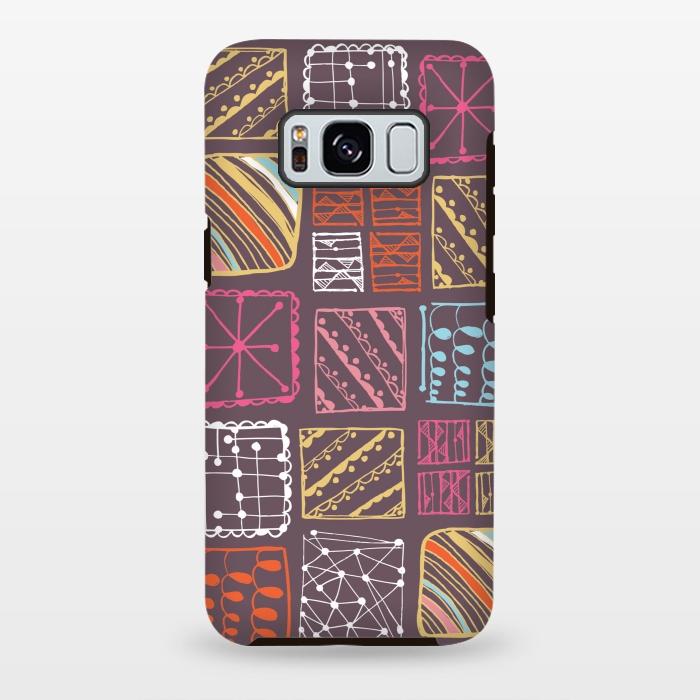 AC-00028777, Phone cases, Galaxy S8+, Galaxy S8 plus, StrongFit Galaxy S8+, StrongFit Galaxy S8 plus, Rachael Taylor, Doodle Squares, Designers, Tough Cases,