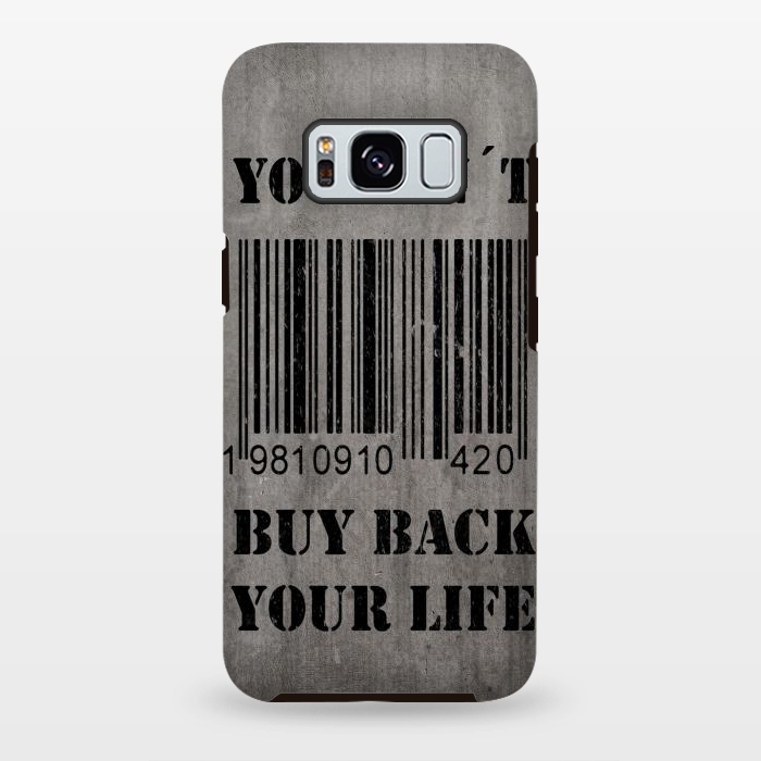 AC-00028829, Phone cases, Galaxy S8+, Galaxy S8 plus, StrongFit Galaxy S8+, StrongFit Galaxy S8 plus, Nicklas Gustafsson, You can´t buy back your life, Designers, Tough Cases,