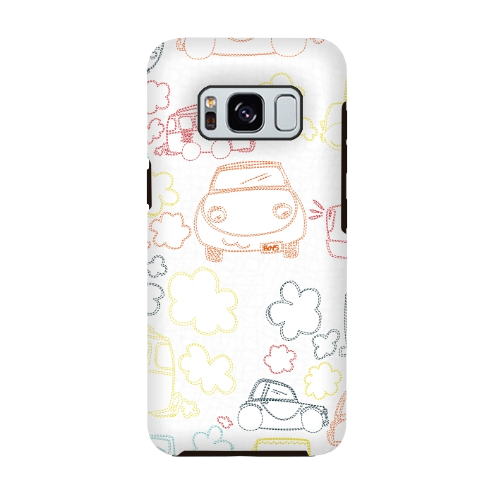 AC-00028842, Phone cases, Galaxy S8, Galaxy S8 plus, StrongFit Galaxy S8, StrongFit Galaxy S8, MaJoBV, Stitched Cars, Designers, Tough Cases,