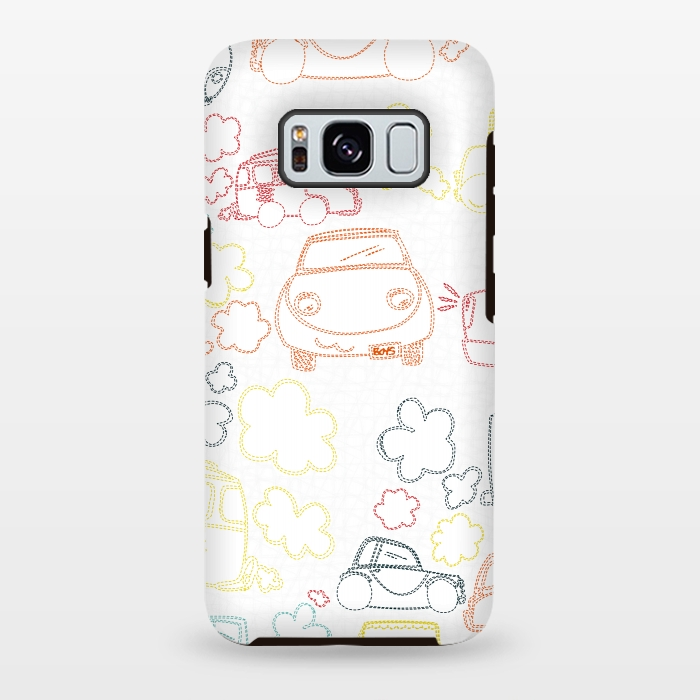 AC-00028851, Phone cases, Galaxy S8+, Galaxy S8 plus, StrongFit Galaxy S8+, StrongFit Galaxy S8 plus, MaJoBV, Stitched Cars, Designers, Tough Cases,