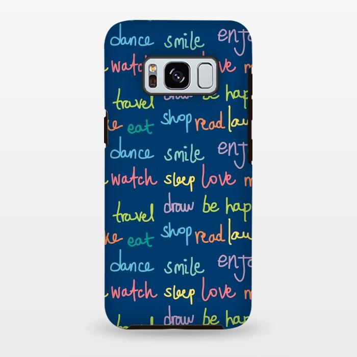 AC-00028852, Phone cases, Galaxy S8+, Galaxy S8 plus, StrongFit Galaxy S8+, StrongFit Galaxy S8 plus, MaJoBV, Happy Typo, Designers, Tough Cases,