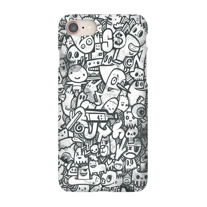 AC-00030292, Phone Cases, iPhone 7, SlimFit, Wotto, Watercolor Doodle, Designers,watercolor,watercolour, watercolors, paint, painting, characters, character design, doodles,doodle, doodled,drawn, hand drawn, fun, cute, funny, silly, details,wotto