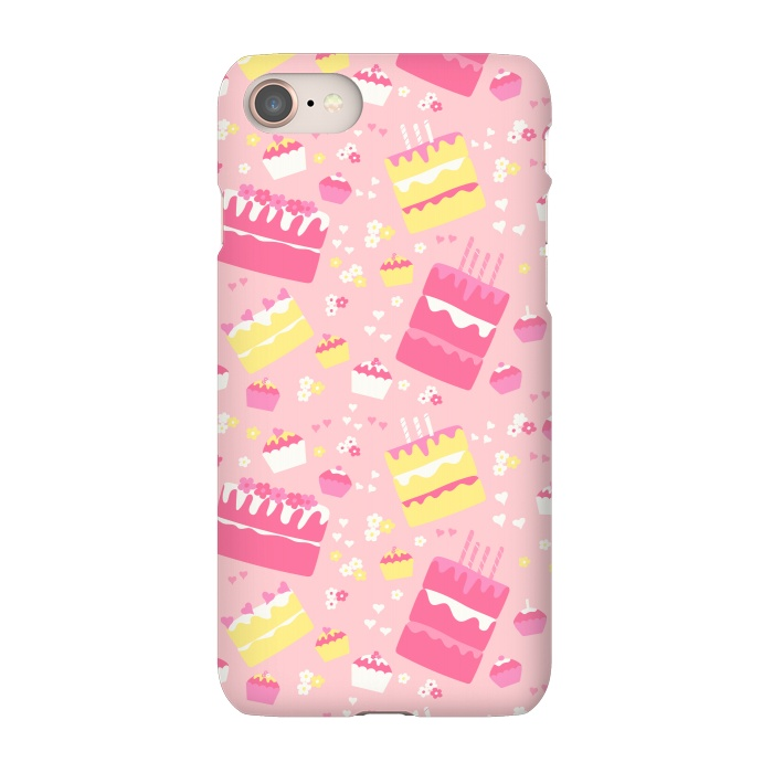 AC-00033593, Phone Cases, iPhone 7, SlimFit, Sarah Price Designs, Birthday Cake, Designers,birthday,cake,birthday cake,cupcake